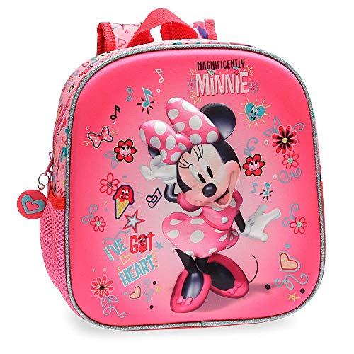 Disney Stickers Zainetto per bambini, 25 cm, 5.75 liters, Rosa