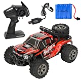 happy event 1:18 2.4G fernbedienung off-road monster lkw high speed rtr rc car spielzeug (Rot)