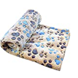 Lumanuby 1 Pcs Dog Blanket Super Soft Warm Lovely Pet Bed For Puppies Cat Blanket Bone Design Rug Pet Supplies Brown