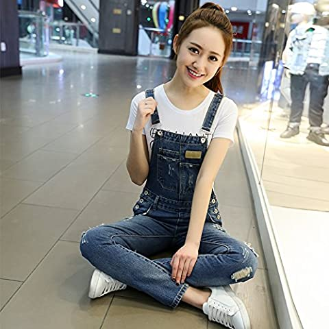 SHOESHAOGE Boxed Loose Video Thin Cowboy Jumpsuits Female Trousers Reduced