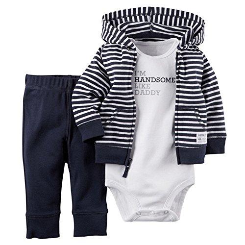 Araus completini e coordinati da neonato bambino felpe con cappuccio a manica lunga 3 pezzi, 9 modelli 3-24 mesi