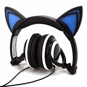 casque d 39 coute d 39 oreille de chat komrt casque d 39 coute d 39 enfants clignotant casque d 39 coute de. Black Bedroom Furniture Sets. Home Design Ideas