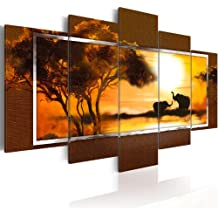 200x100 !!! Formato Grande + Impresion en calidad fotografica + 5 partes + Africa + cuadro 5719 + 200x100 cm +++ GRAN VARIEDAD DE CUADROS Y IMPRESOS ARTÍSTICOS EN NUESTRA TIENDA VIRTUAL +++