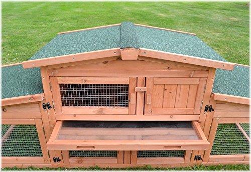 Zooprimus Kaninchenstall 47 Hasenkäfig – KÖNIGSSTALL – Stall für Außenbereich (für Kleintiere: Hasen, Kaninchen, Meerschweinchen usw.) - 5