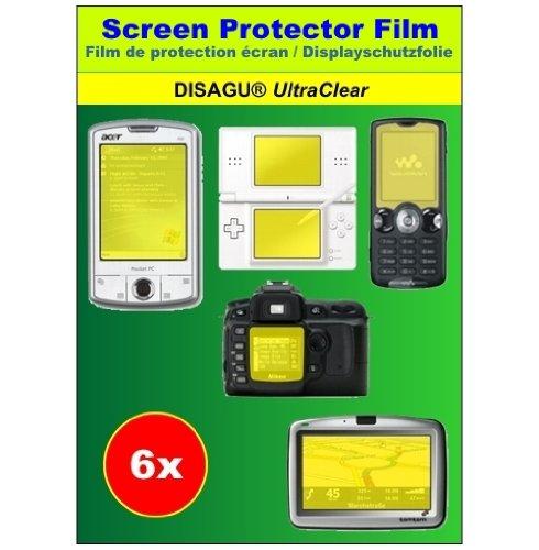6 x Ultra Clear Displayschutzfolie für HTC Mega 100