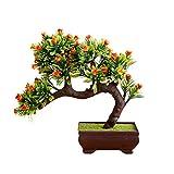 TLfyajJ Artificiale Flower Tree Pot Bonsai Stage Garden Wedding Party Balcone Decor 1Pc Giallo