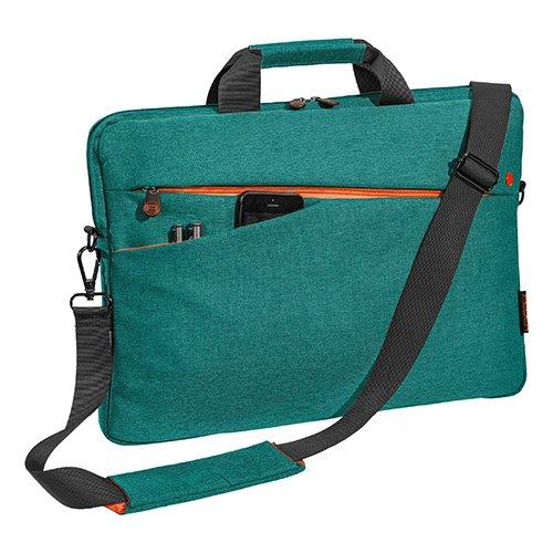 """PEDEA Notebooktasche """"Fashion"""" für 17,3 Zoll (43,9cm) mit Zubehörfach, Schultergurt, türkis"""