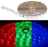 Luminea Zubehör zu SMD-LED-Streifen weiß: RGB-LED-Streifen LAC-206, 2 m, 60 LEDs, dimmbar, IP44 (LED Lichterband)