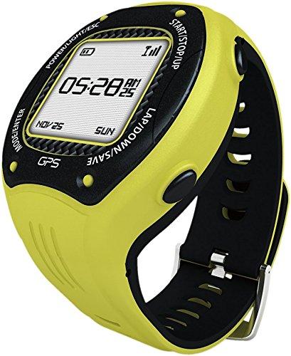 Posma W3GPS-navegación de ciclismo Running Senderismo Deporte Reloj con Ant +, G-sensor y 6 Axis brújula Strava mapmyride/brazalete amarillo