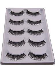 LHWY 5 Pair Natural Look False Eyelashes Voluminous Eyelashes Extension Makeup by LHWY
