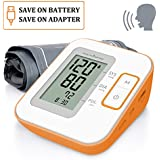 Health Sense BP100 Heart Mate Classic Fully Automatic Digital Talking Blood Pressure Monitor (White/Orange)