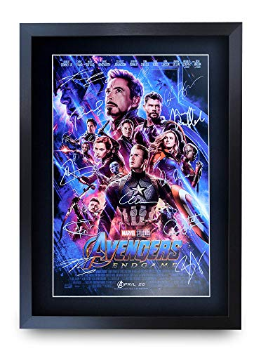 HWC Trading Poster mit Autogramm, A3, Motiv FR Avengers, gerahmt, A3