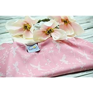 Strampelsack aus Bio-Baumwolle, 44 48, Frühchen, Schlafsack zum Pucken, Babys, Kinder, Frühchen, Pucksack für Bett Kinderwagen, rosa creme, Elfen, Feen, Blumen, Geschenk