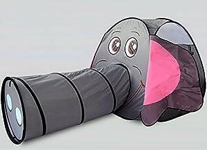 Allkindathings Elephant Play Tienda de campaña para túnel de Arrastre para niños al Aire Libre Divertido