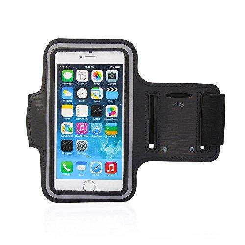 Neues Produkt für iPhone 6/6S Plus, iPhone Armband, Buddle mit gratis gehärtetem Glas Displayschutzfolie, Sport Sportarmband, für Radfahren, Laufen, Tasche, Touch Kompatibel Schlüsselhalter, wasserdichten, (Versteckte Pic)