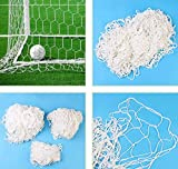 Keenso Rete da Calcio Net Rete da Calcio da Calcio a grandezza Naturale Rete da Calcio Sostitutiva per Porta da Calcio per Allenamento Sportivo(6X4FT)