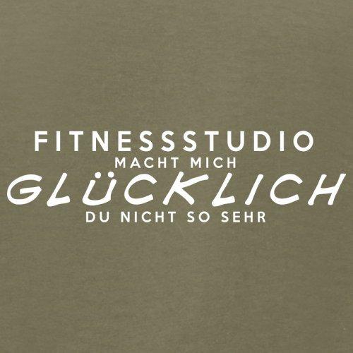 Fitnessstudio macht mich glücklich - Herren T-Shirt - 13 Farben Khaki
