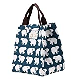 #8: 1E-way Cute Polar Bear Lunch Bag Thermal Insulated Tote Bag Picnic Bag Canvas Waterproof for Girl Kids Women and Men