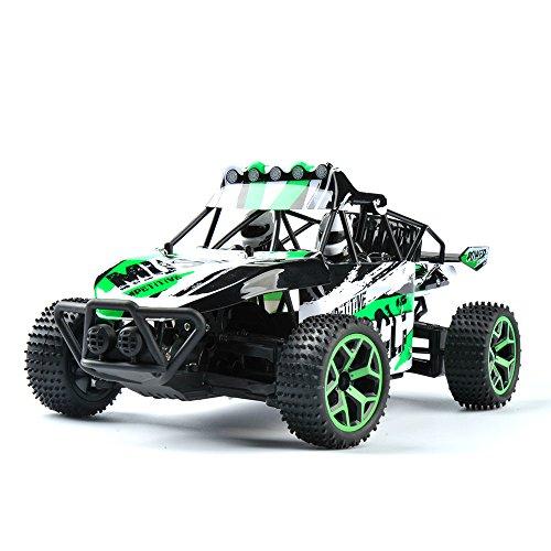 GizmoVine-RC-Coche-Radio-Control-4WD-de-Alta-velocidad-Escala-118-Mando-a-Distancia-de-24Ghz-Coche-de-Carreras-Elctric-Vehculo-con-Batera-Recargable-Color-Verde