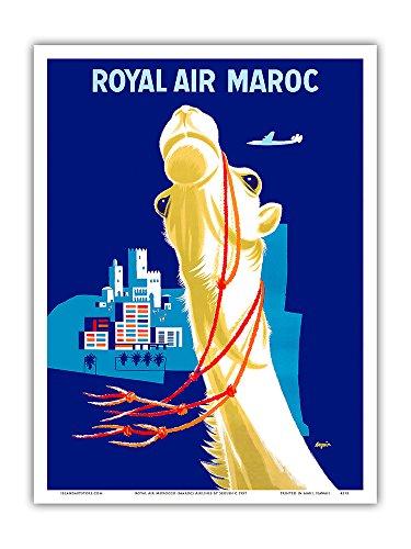 1957 Poster (Pacifica Island Art Royal Air Marokko Fluggesellschaft - Vintage Retro Fluggesellschaft Reise Plakat Poster von Seguin c.1957 - Kunstdruck - 23cm x 31cm)