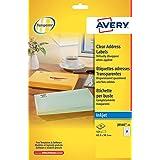 Avery J8560-25 - Paquete de 525 etiquetas de dirección (63.5 x 38.1 mm), blanco