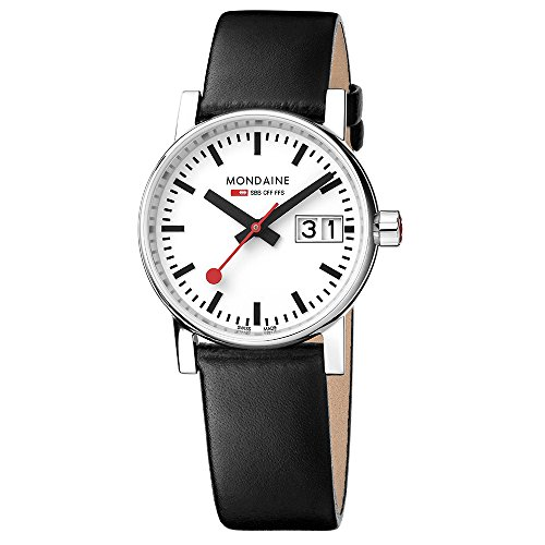 Mondaine Unisex-Adult Analogue Classic Quartz Connected Wrist Watch with Stainless Steel Strap MSE.30210.LB