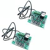 Hiletgo W120912V DC digitale temperatura controller Board micro termostato digitale -50–110°C Temp modulo di controllo elettronico della temperatura con interruttore 10A un canale relè e impermeabile (confezione da pezzi)