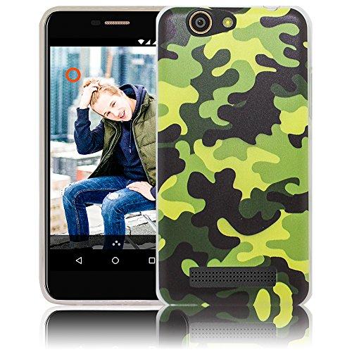 thematys WileyFox Spark/Spark Plus Camouflage Handy-Hülle - Silikon - staubdicht, stoßfest & leicht - Smartphone-Case WileyFox Spark/Spark Plus