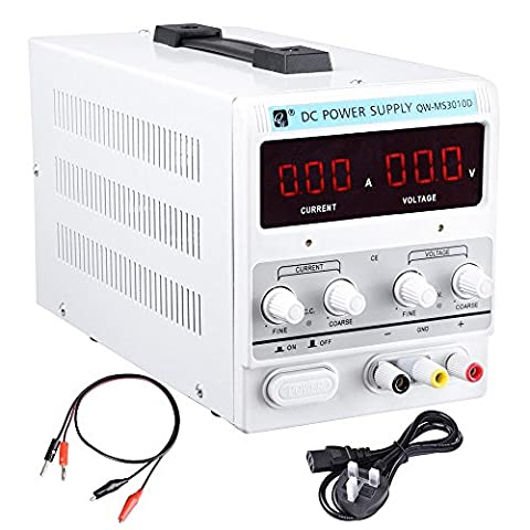 ReaseJoy 30V 10A Variable Laboratory DC Power Supply Regulated Adjustable Precision Solder Station Kit with Clip