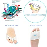 2 Pairs Ball Of Foot Cushions Metatarsal Pads Pain Relief. Silicone Gel Feet Support Pad For Mortons Neuroma, Plantar Fasciitis & Metatarsalgia Instant Pain Relief. Wearable Ballet Shoes. (Half Toe)