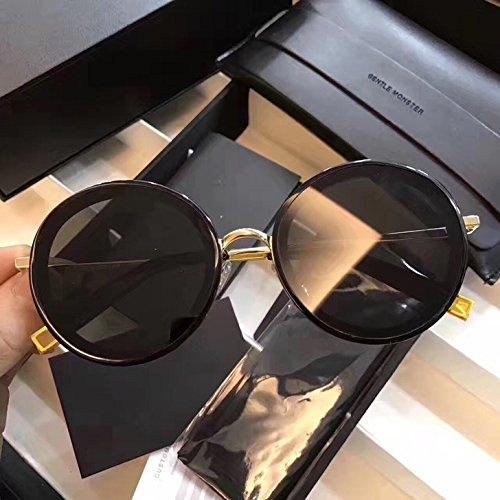 Unisex Sonnenbrille Für sanfte Monster-Sonnenbrille New Gentle man or Women Monster eyeware V brand The Whip 01 Gold sunglasses for Gentle monster sunglasses -black frame black lensess