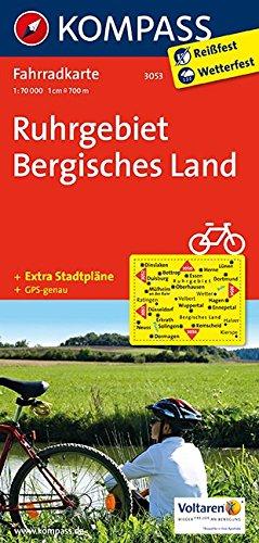 Ruhrgebiet - Bergisches Land: Fahrradkarte. GPS-genau. 1:70000 (KOMPASS-Fahrradkarten Deutschland, Band 3053)