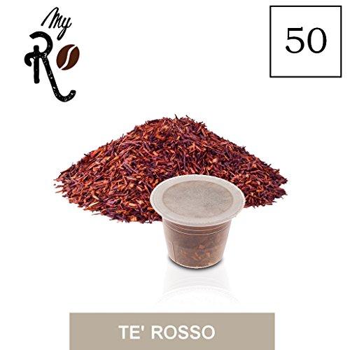 FRHOME - 50 Cápsulas de té compatibles Nespresso - Té Rojo - MyRistretto