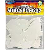 """Premier papelería """"Crafty Bitz máscaras–Figura de animal"""" Craft–Papel (Pack de 10)"""