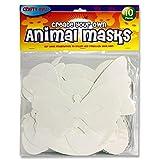 Premier Stationery Zugeschnittene Tiermasken, Papier, 10Stück