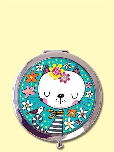 Flower Compact (Rachel Ellen Geschenkkarton Boxed Taschenspiegel Compact Mirror - Katze und Blumen Cat & Flowers)