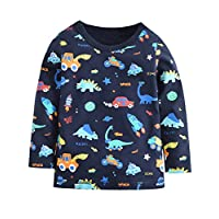 Tarkis Boys Cotton Jumpers Tops Cartoon Dinosaur T-Shirt Tee Pullover for 1 2 3 4 5 6 Years Kids