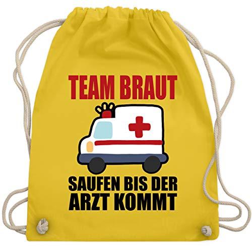 Kostüm Arzt Freundin - JGA Junggesellinnenabschied - JGA - Team Braut - Saufen bis der Arzt kommt - Unisize - Gelb - WM110 - Turnbeutel & Gym Bag