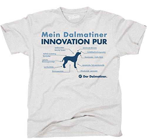 Siviwonder Unisex T-Shirt INNOVATION DALMATINER TEILE LISTE Hunde lustig fun Ash