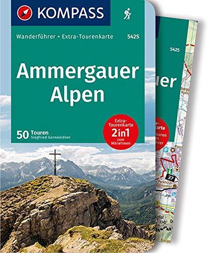 Ammergauer Alpen: Wanderführer mit Extra-Tourenkarte 1:30.000, 50 Touren, GPX-Daten zum Download.: Wandelgids met overzichtskaart (KOMPASS-Wanderführer, Band 5425)