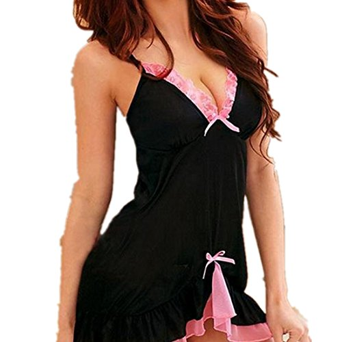 Amlaiworld Donna vestito da notte,Babydoll Chemise Dress sapore intimo indumento