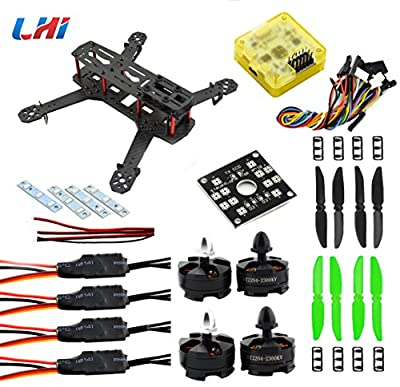 LHI 250mm Quadcopter Frame Racing+ CC3D Flight Controller + MT2204 2300KV Motor + Simonk 12A ESC + 5030 propeller from LHI