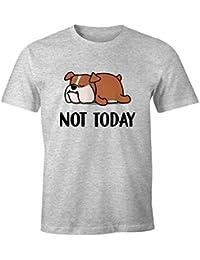 MoonWorks/® Herren T-Shirt Hunde Mama lustiges Hunde Motiv Gassi Shirt