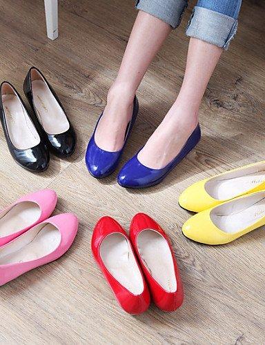 ShangYi Scarpe Donna - Ballerine - Ufficio e lavoro / Formale / Casual - Ballerina - Basso - Vernice - Nero / Blu / Giallo / Rosa / Rosso / Bianco Yellow