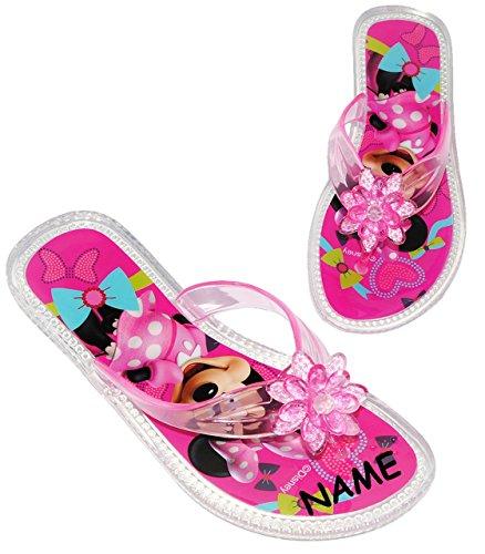 "Zehentrenner Sandalen - Gr. 31 / 32 - "" Disney Minnie Mouse ""- rutschfeste Schuhe Schuh / Badeschuhe mit Profilsohle - für Kinder - Mädchen / Hausschuhe Prinzessinnenschuhe / Pantoletten - Gartenschuh"