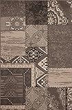 Kayoom USA - Los Angeles Silber Teppich Teppiche Modern Design, Größe:80cm x 150cm