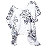Dragon868 Damen Kurzarmshirt Lose T Shirt Bluse Mode 2018 Sommer Bedrucktes T-Shirt Kurzarm Farbverlauf O-Neck Bandage Tops Bluse (Grau 1, L4)