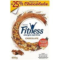 Cereales Nestlé Fitness con chocolate con leche - Copos de trigo integral, arroz y avena integral tostados