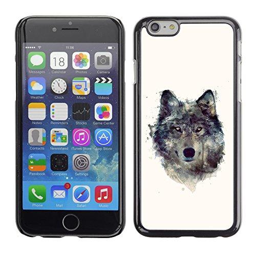 Graphic4You Wolf Tier Design Harte Hülle Case Tasche Schutzhülle für Apple iPhone 6 / 6S Design #2