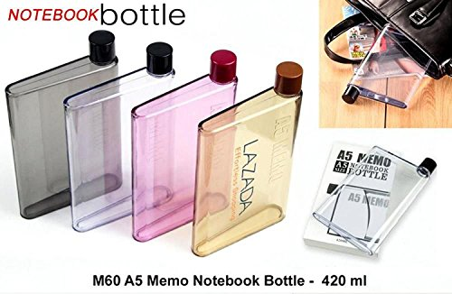 GKP Products A5 Water Bottle Memo Bottle Assorted Colors 1 Pc Model 410046